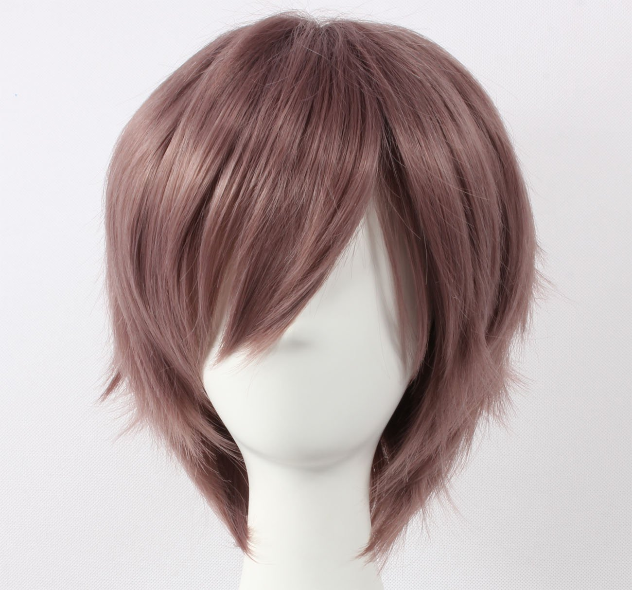 Coolsky Wig Dark Grey Wig Short Dark Grey Straight Wig Hope Estheim SQUARE EN