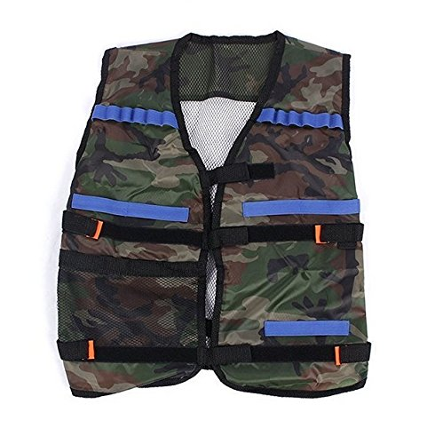 iThings J 1 Pcs Green Children Elite Tactical Vest Military Holster Kids for Nerf GUN N-strike Elite Birthday Christmas Gift Set,Nerf Vest,Nerf Tactical Vest,Nerf Tactical Vest Kit,Nerf Vest Kids