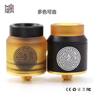 Factory price Vape RDA Tanks 24K Gold Plated Deck Advken Artha RDA Tank 24mm