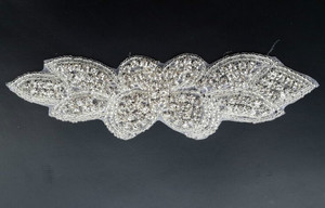 rhinestone embroidered patches for dress headband/sash belt