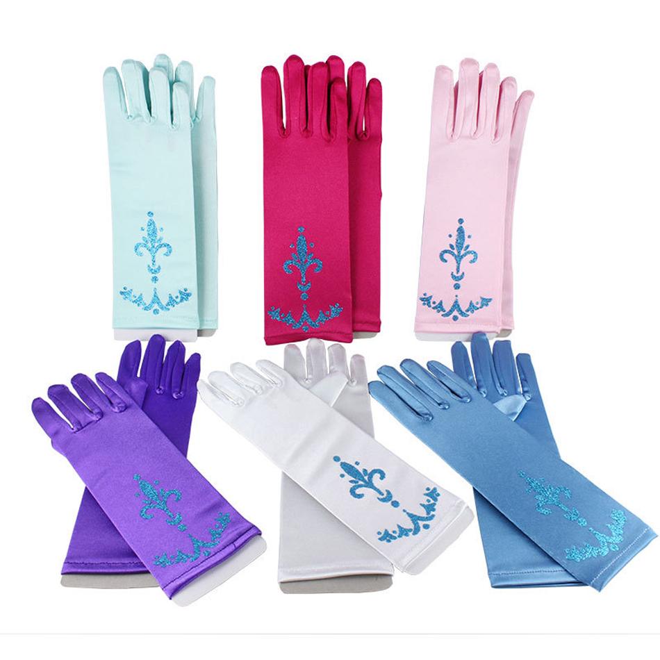 pamaba cocuk eldivenleri prenses elsa anna cosplay aksesuarlari eldiven baski uzun parmak kiz eldiven kar kralicesi brokar eldiven gloves accessories gloves princessgloves gloves aliexpress