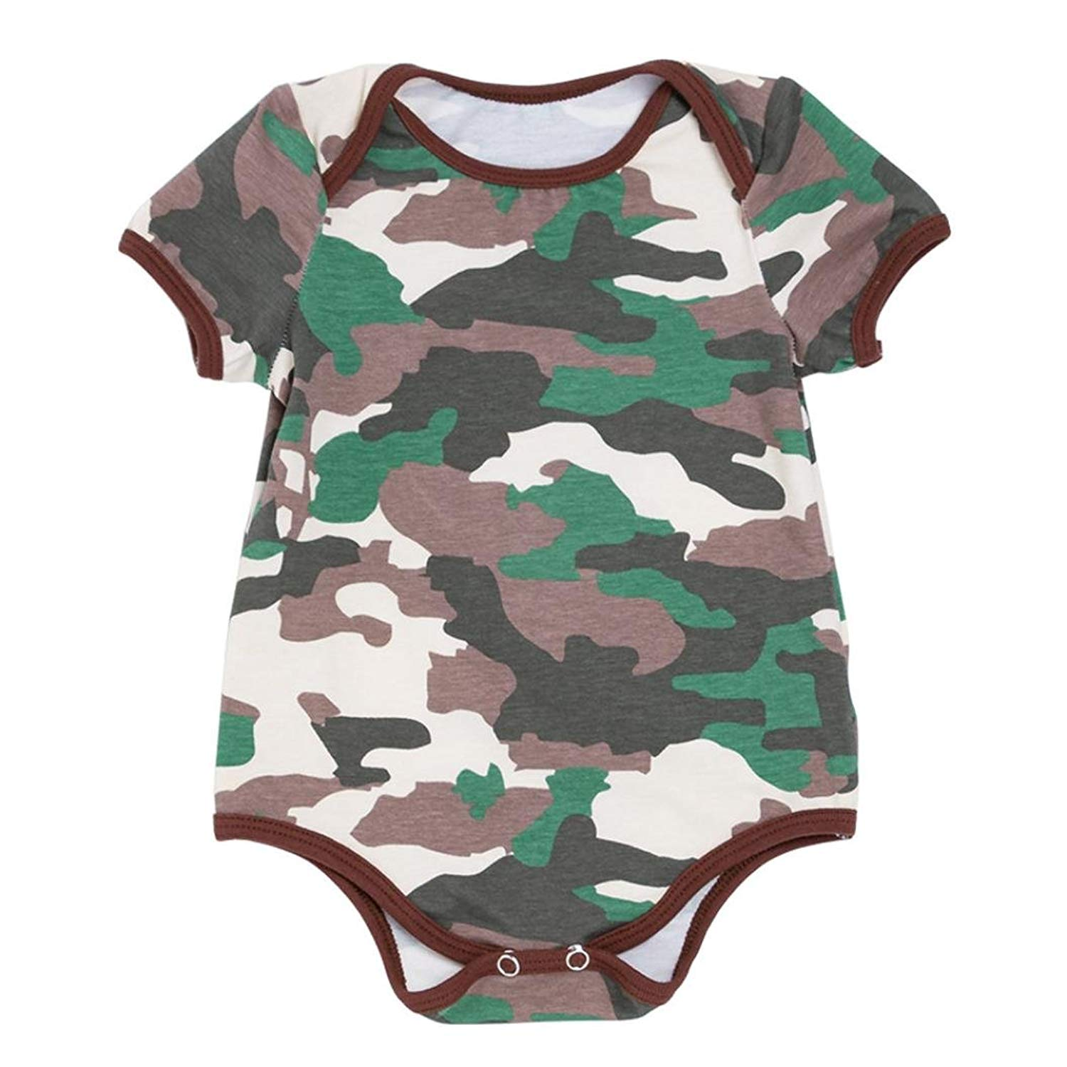 4be159153b0 Get Quotations · OUBAO Baby Romper Summer Toddler Newborn Infant Baby Boy  Girls Summer Camouflage Rompers Outfits Clothes