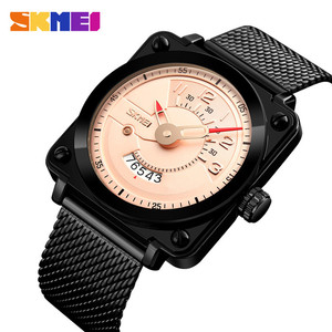 Time and Date mesh steel band skmei 9172 guangzhou details quartz watches