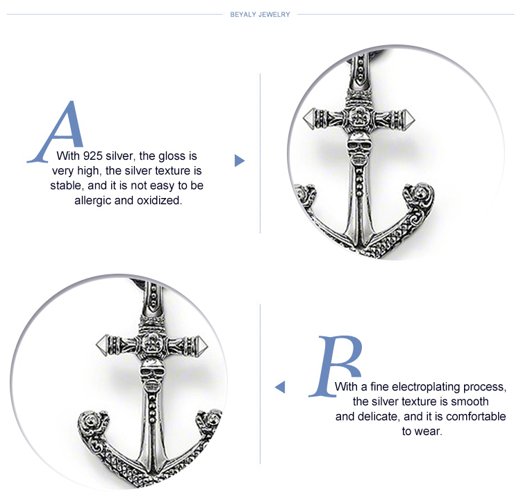 product-Anchor Shape Wholesale Design Sterling Silver Charms Little Boy-BEYALY-img