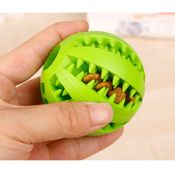 Good Elasticity Rubber Pet Dog Chew Toy Ball Feed Food Ball