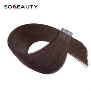 Remy Double Drawn Straight Human Hair Tape Hair Extension