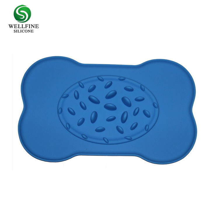 Silicone Pet Bowl, Pet Food Bowl Silicone Slow Pet Feeder