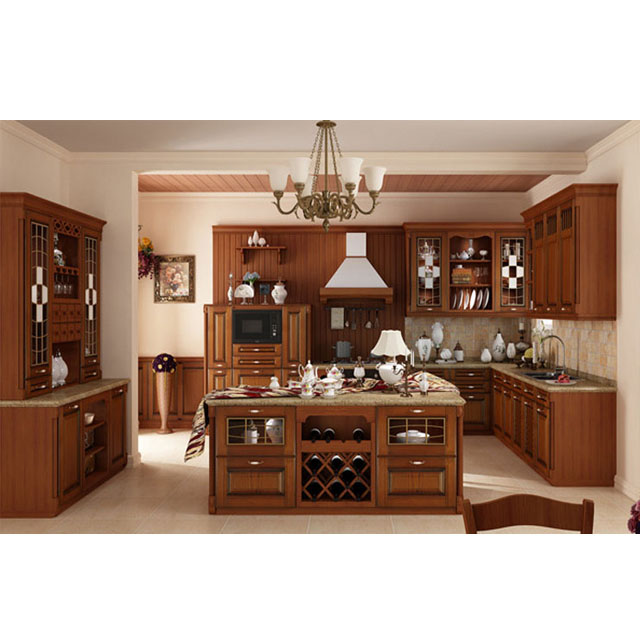 The Best Choice European Standard Classical Solid Wood Kitchen Cabinet -  Buy Solid Wood Kitchen Cabinet,Classical Kitchen Cabinet,Cherry Wood  Kitchen ...