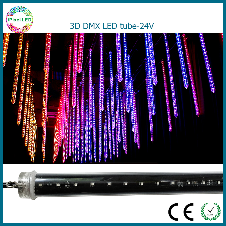 Stage Falling Star light Dmx Rgb 3d Vertical Tube Led Club Tube