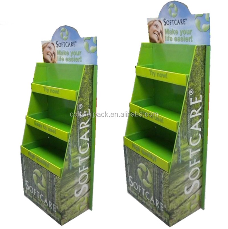 recyclable cardboard mobile phone display stand hardware store