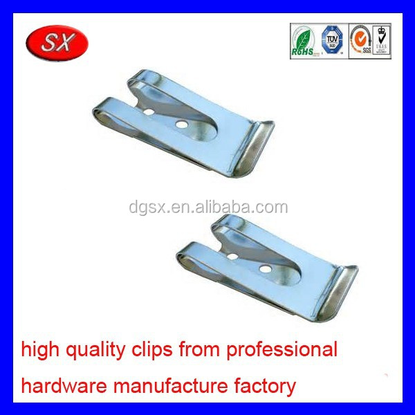 customized galvanized steel metal belt clip tempered belt clip magnetic belt clip leather sheath part