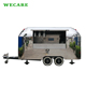 Mobile airstream bbq burger trailer electric food truck for sale