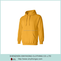 Golden Color High Quality Plus Size Cotton Lycra Hoodies Hoodys For Man