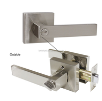 North /South America Australia new modern square door lever lock entry /privacy /passage /dummy function