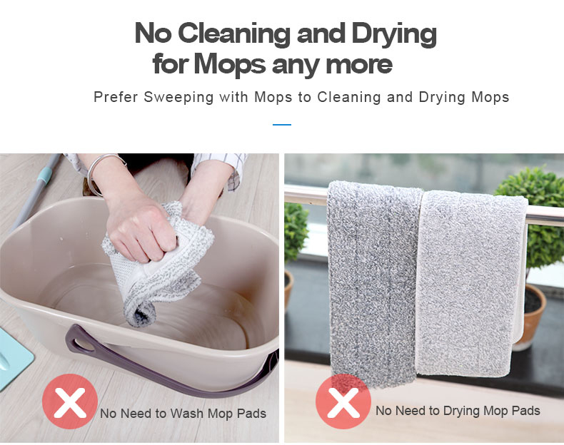 Disposable nonwoven floor cleaning mop Floor Cleaning Wipes For Flat Mops