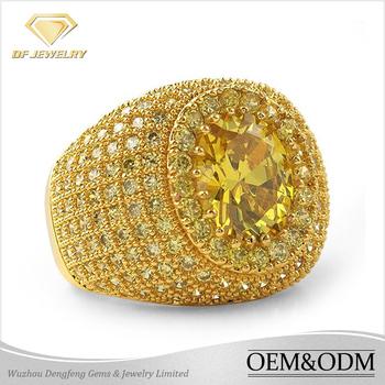 2016 Fashion Saudi Arabia Gold Wedding Ring Price Larger Men Ring