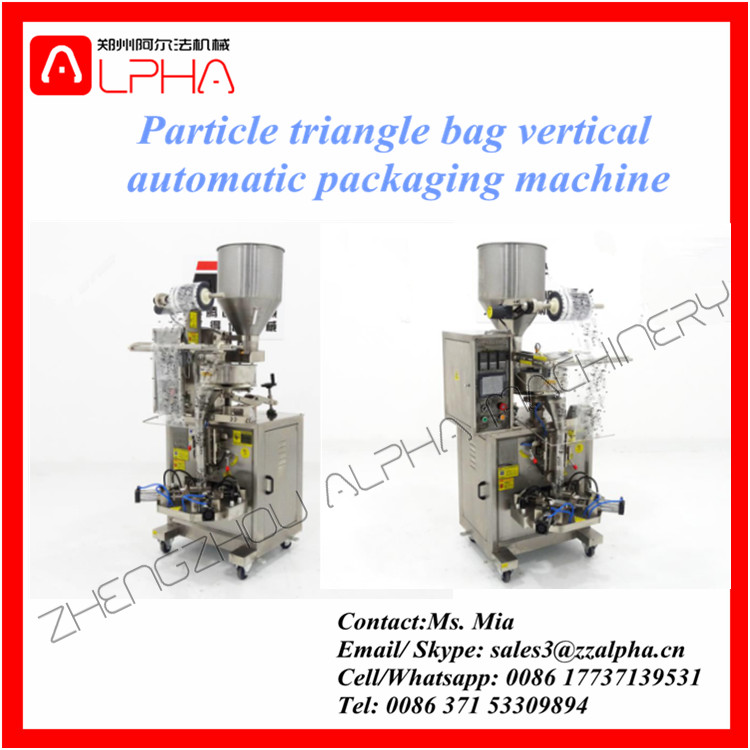Alpha AP-TP350 Triangle bag Low cost pouch paking machine price/ triangle packing machine