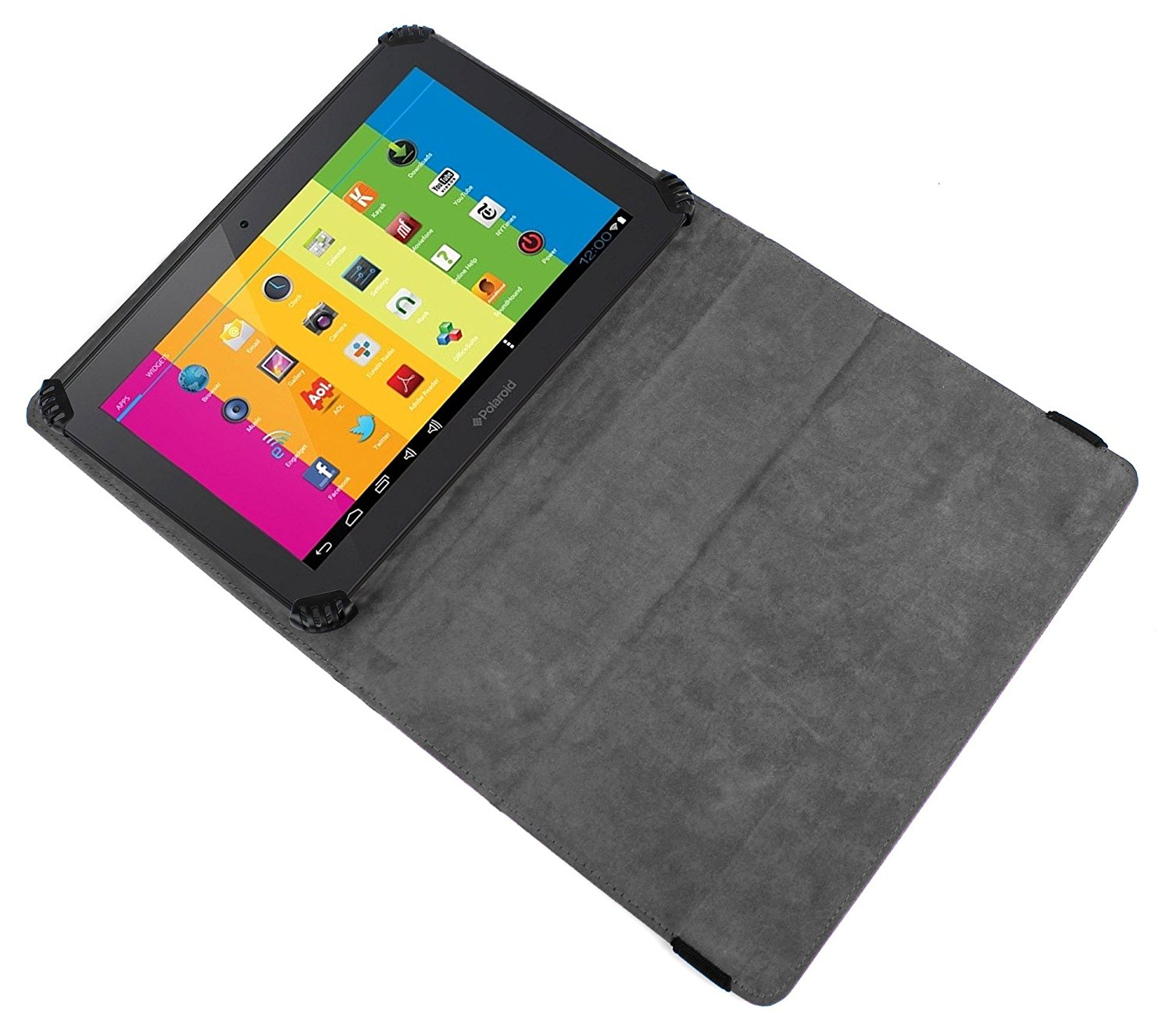 de429cff3a Get Quotations · DURAGADGET New PU Leather Case Cover With Built In Flip  Stand For Polaroid 10.1