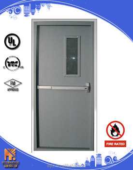 Steel fire door with ul listed push bar 3 hours buy fire for 1 hour fire rated door price