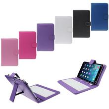 Del 7″ Universal Pu Leather Case Cover with Micro USB Keyboard For Tablet PC Feb29