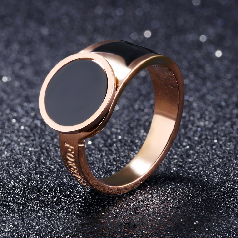 Trendy Product Custom Engraved Words Rose Gold Finger Jewelry Women Fancy Ring