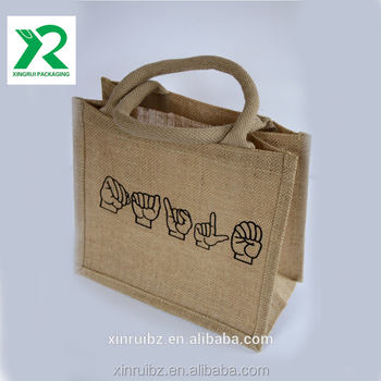 0824e3fd79e Top quality custom different style eco friendly jute tote lunch bag for  kid,woman and