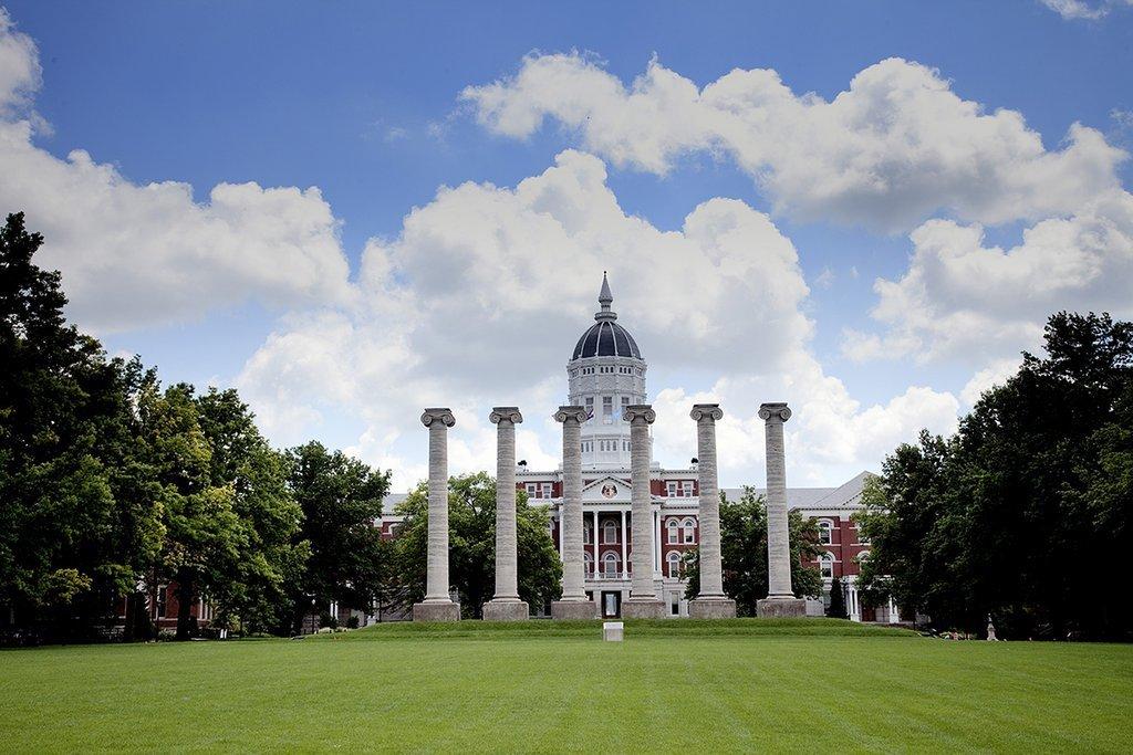 Columbia, MO - Photo - 24x16 - The Francis Quadrangle, columns and main building, University of Missouri, Columbia, Missouri - Carol Highsmith