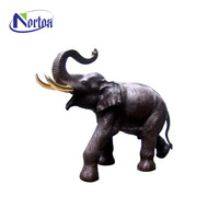 Professional supplies western style indian brass elephant statues for sale NTBA-590Y