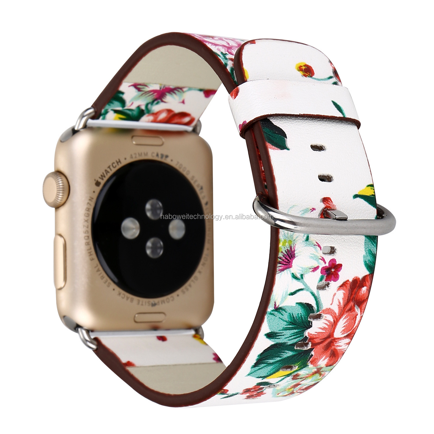 Vintage Pattern Watch Band Strap For Apple Watch Series 1 2 Leather Bracelet 38mm 42mm