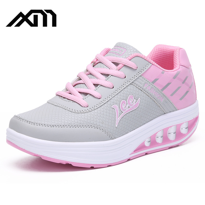 women PU casual shoes Shake shoes Slimming shoes made in China
