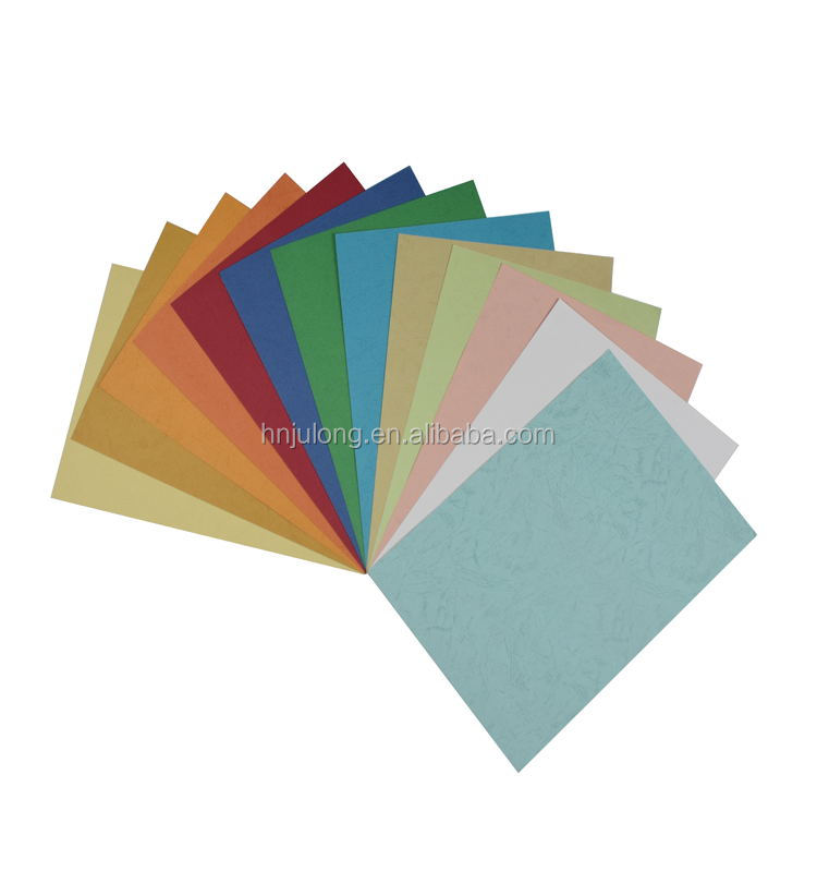 China factory supply 210gsm A3 A4 A5 colorful leather grain book binding cover paper for office use