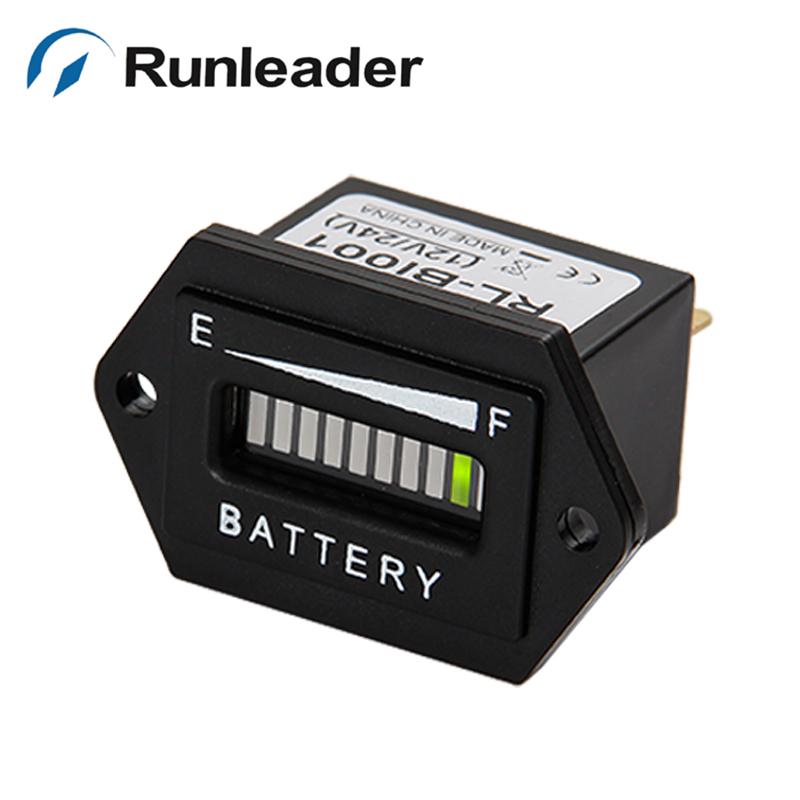 Заряда аккумулятора разряда индикатор / из светодиодов / для 12 В 24 В аккумулятор тележки для автомобиля мотоцикл погрузчик - runleader