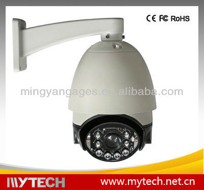 IR auto rotate dome camera with Up to 120m IR LED Effective Range, High Resolution for Clearer and Sharper Images