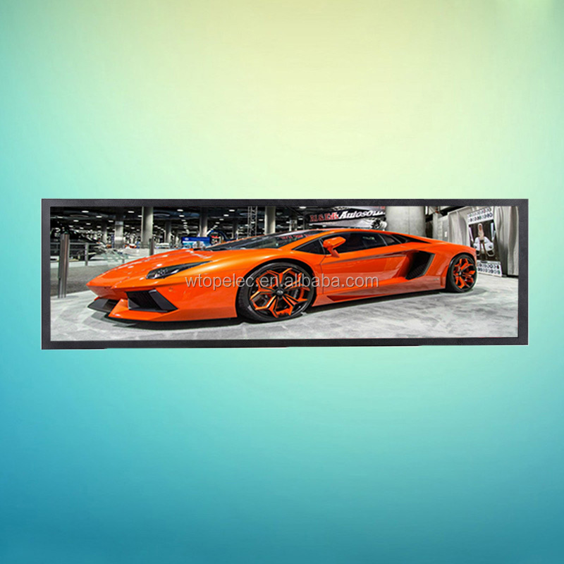 28 inch ultra-wide stretched extended LCD monitors for advertisement