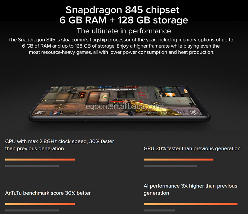 Original Xiaomi Mobile Phone Xiaomi Mi Mix 2S , Android Phone with Snapdragon 845 Octa Core 6GB+64GB 12MP Dual AI Camera