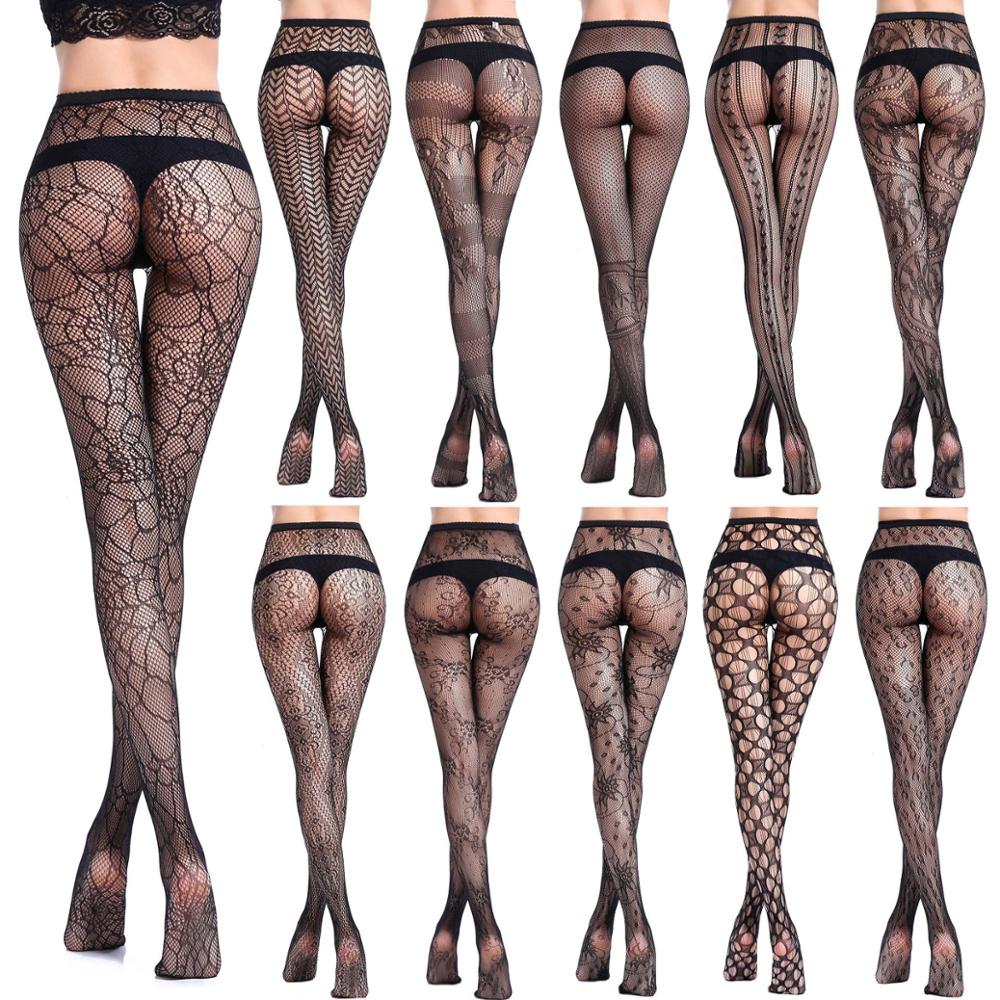 b9d03109e New Fashion Young Girl And Women Hosiery Nylon Lace Mesh Sexy Silk Stockings