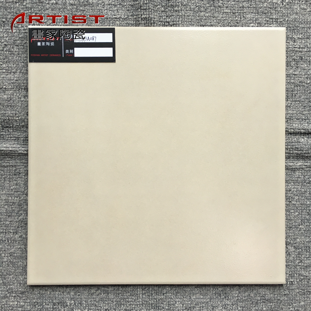 Foshan slim beige color ceramic floor tile cut size