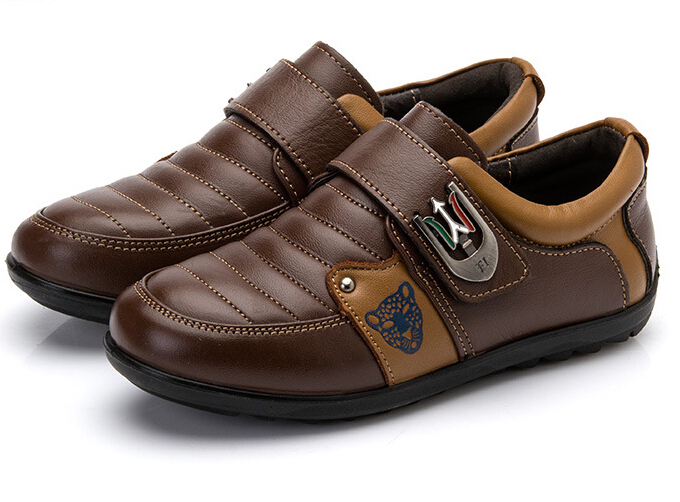 e64b953138f9 Get Quotations · Boys Leather shoes in 2015 autumn and winter leather  children shoes casualshoes sneakers Boys and girls