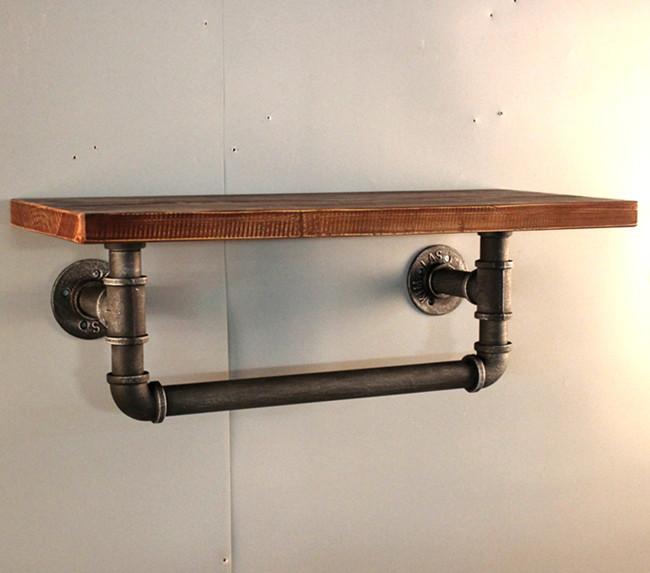 Plank Voor Aan De Muur.Retro Oude Ijzeren Industriele Pijp Plank Muur Rack Boekenplank