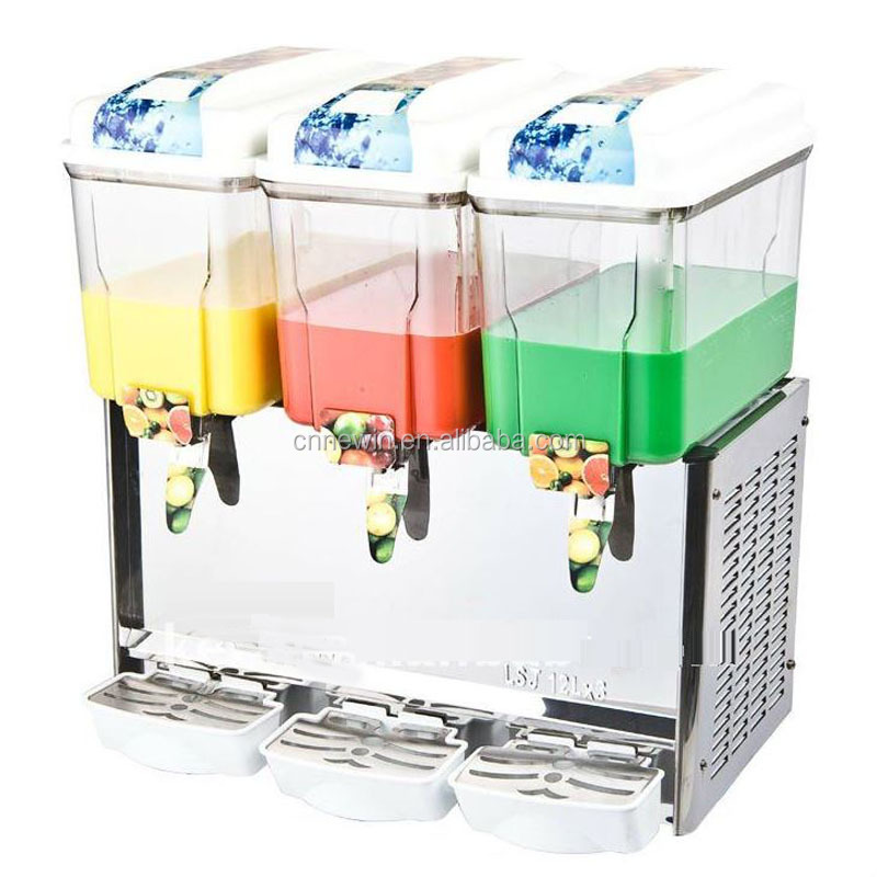 3 tank Juicer dispenser Cooler Fruit Commerciële