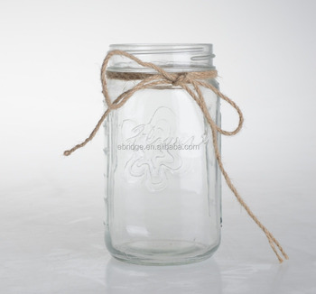 Glass Masson Jar Decoration Vase With Rope Buy Decorative Jars And Vases Glass Vases Wholesale