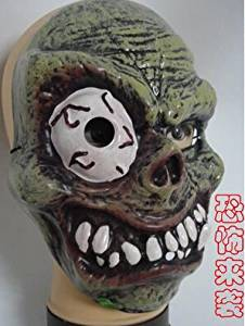 2015 - 2014 New Arrival Halloween Mask Horror Critical Eye Teeth PVC Environmental Protection Mask Party One Eyed Person Mask