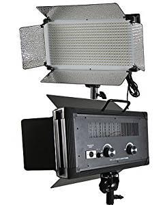 Fancierstudio 500 LED Video Light With Dimmer Switch XLR Pin Led Lighting Kit Light Kit With Barndoor By Fancierstudio FL500