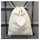 Hot sale customized color white waxed drawstring tote canvas bag