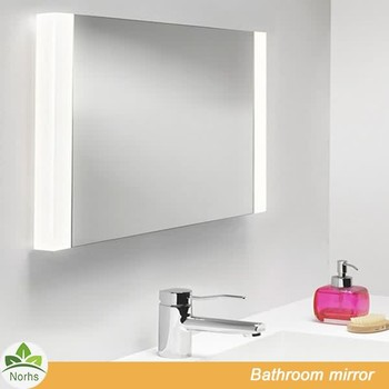 Norhs Wall Mounted Square Illuminated Bathroom Mirrors Lights Behind  Attached With Double Side Resin Framed For Vanity - Buy Bathroom Mirrors  Lights ...
