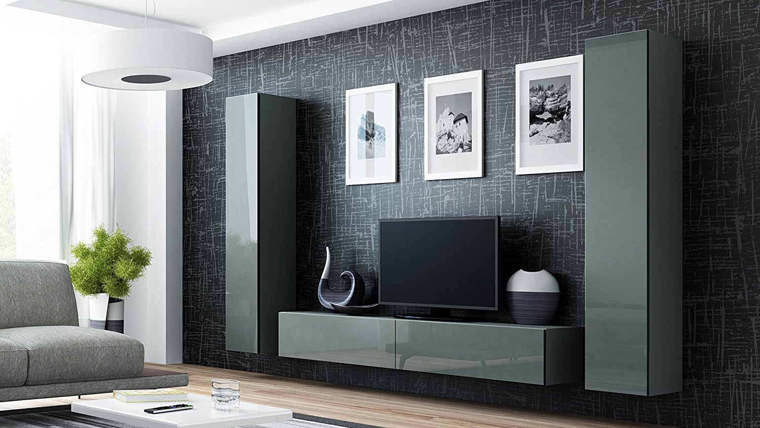 Buy Seattle 3C Wall Unit / Entertainment Center / Hanging ...