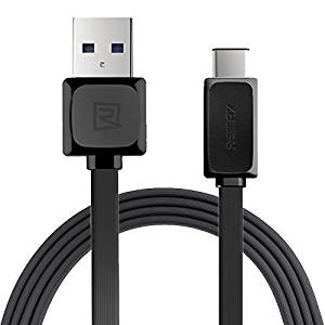 SKIT REMAX Type C 3.3 Ft (1M) Braided Cable with Reversible Connector for New Macbook 12 inch, ChromeBook Pixel, Nokia N1 Tablet, Asus Zen AiO and Other Devices with Type C USB (Black)