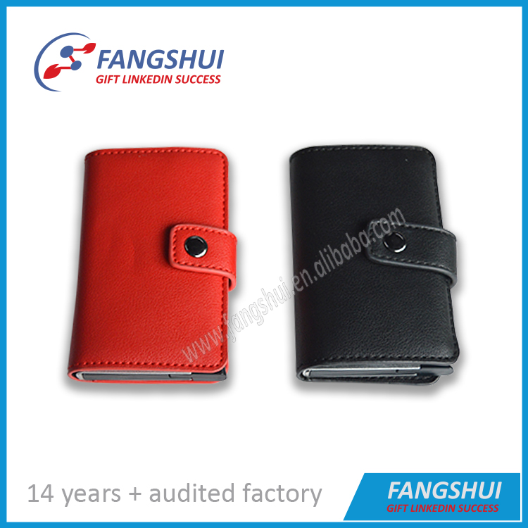 Mini safe business card wallet leather mini wallet man