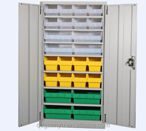 Factory sale heavy duty industrial metal tool storage lockable cabinet for hanging bins