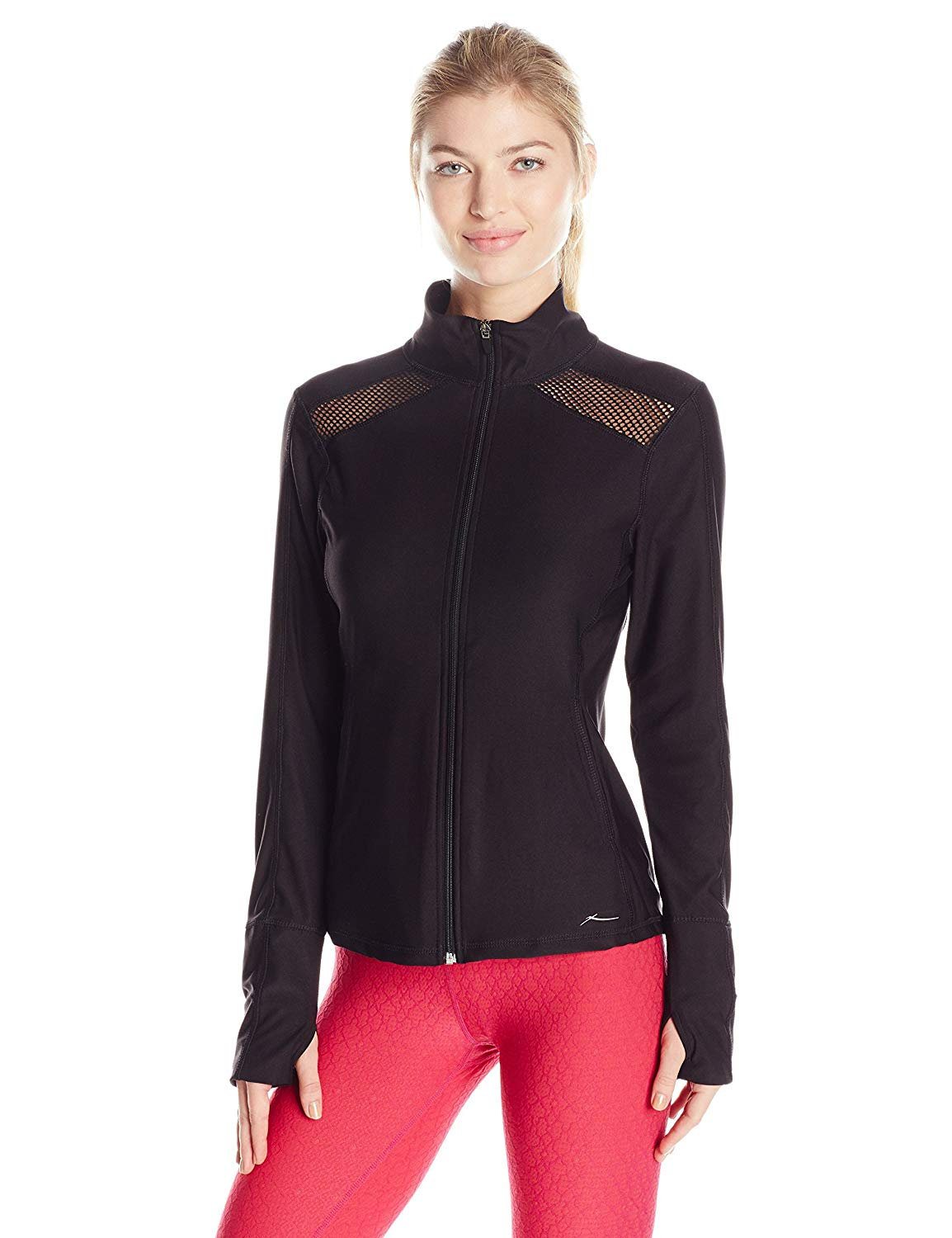 X By Gottex Women's Diamond Mesh Full Zip Jacket
